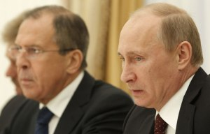 Vladimir Poutine et Sergueï Lavrov