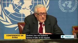 Lakhdar Brahimi, annonçant que l'Iran n'est pas invité à Genève II - PressTV
