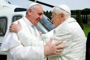 Pour la première fois dans l'Histoire, deux Papes se rencontrent... - Photo Getty Images