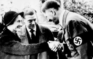 Le Duc et la Duchesse de Windsor avec Hitler, en 1937