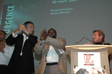 Abdul Wahid al-Nour Bernard Henri-Lévy Bernard Kouchner